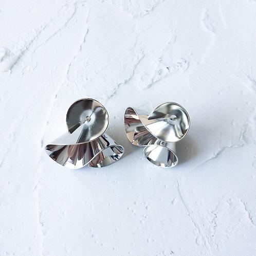 Thalia Silver Twirl Drops