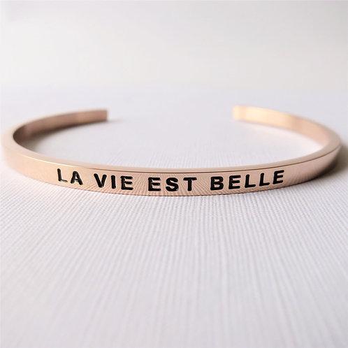 [Stainless Steel] La Vie Est Belle (Rose Gold)