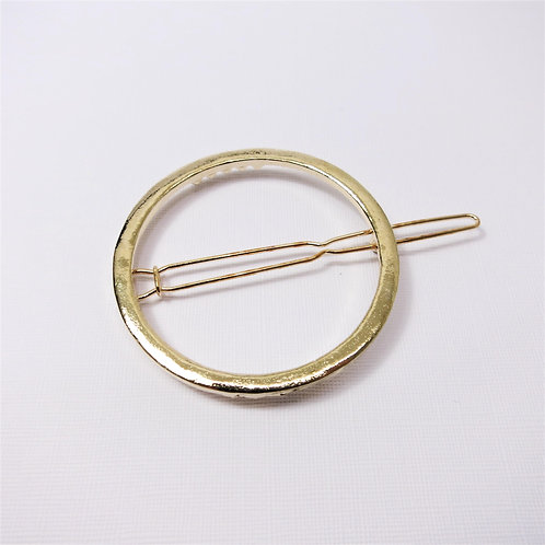 Ally Gold Hollow Circle Hair Pin