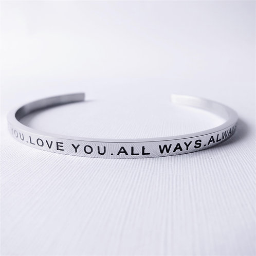 [Stainless Steel] Be You. Love You. All Ways. Always (Silver)