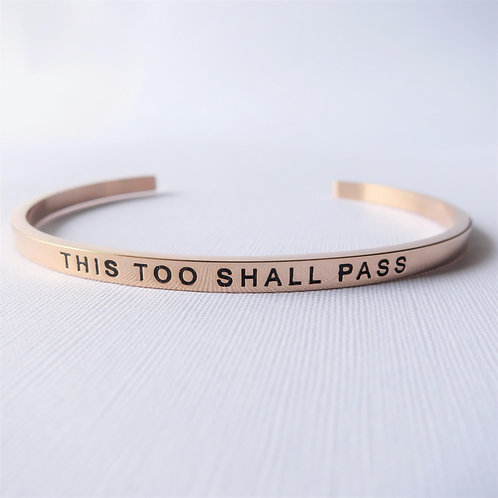 [Stainless Steel] This Too Shall Pass (Rose Gold)