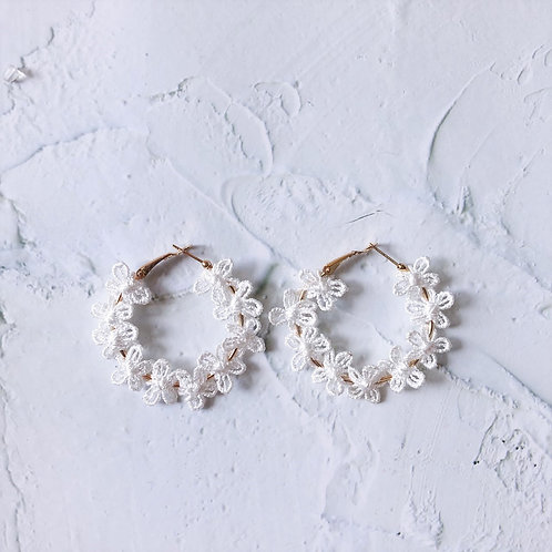 Floral Lacy Hoops