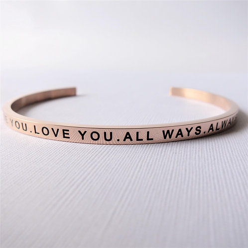 [Stainless Steel] Be You. Love You. All Ways. Always (Rose Gold)
