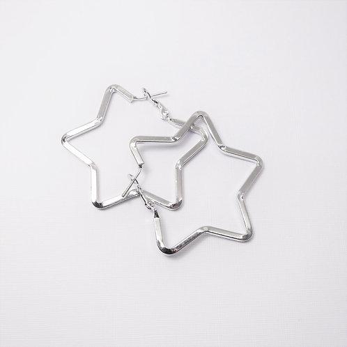Lyra Silver Star Hoops