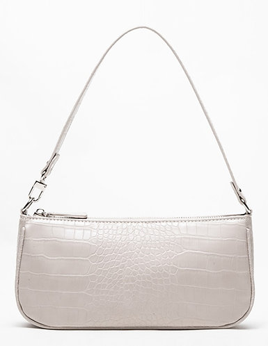 Agatha Vintage Shoulder Bag (Oat Croc-Effect)