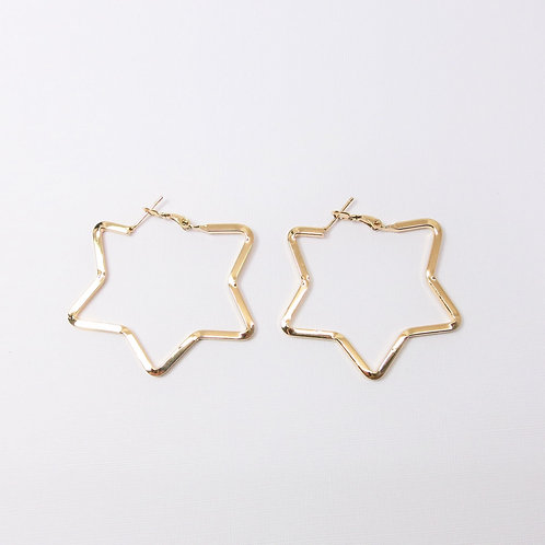 Lyra Gold Star Hoops