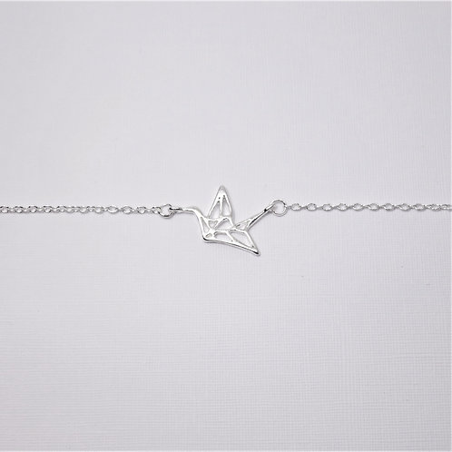 Amelia Origami Crane Bracelet