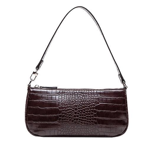 Agatha Vintage Shoulder Bag (Cinnamon Croc-Effect)