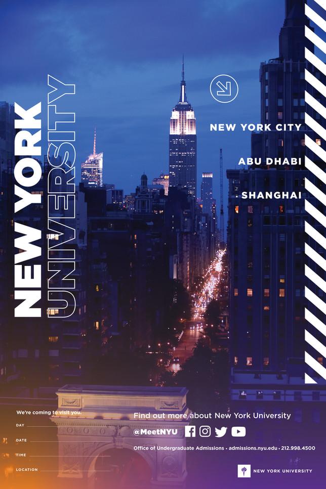NYU High School Recruitment Poster