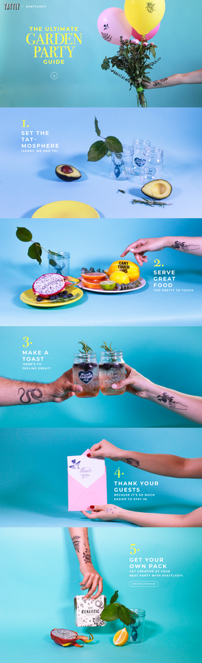 Landing Page for Tattly Campaign