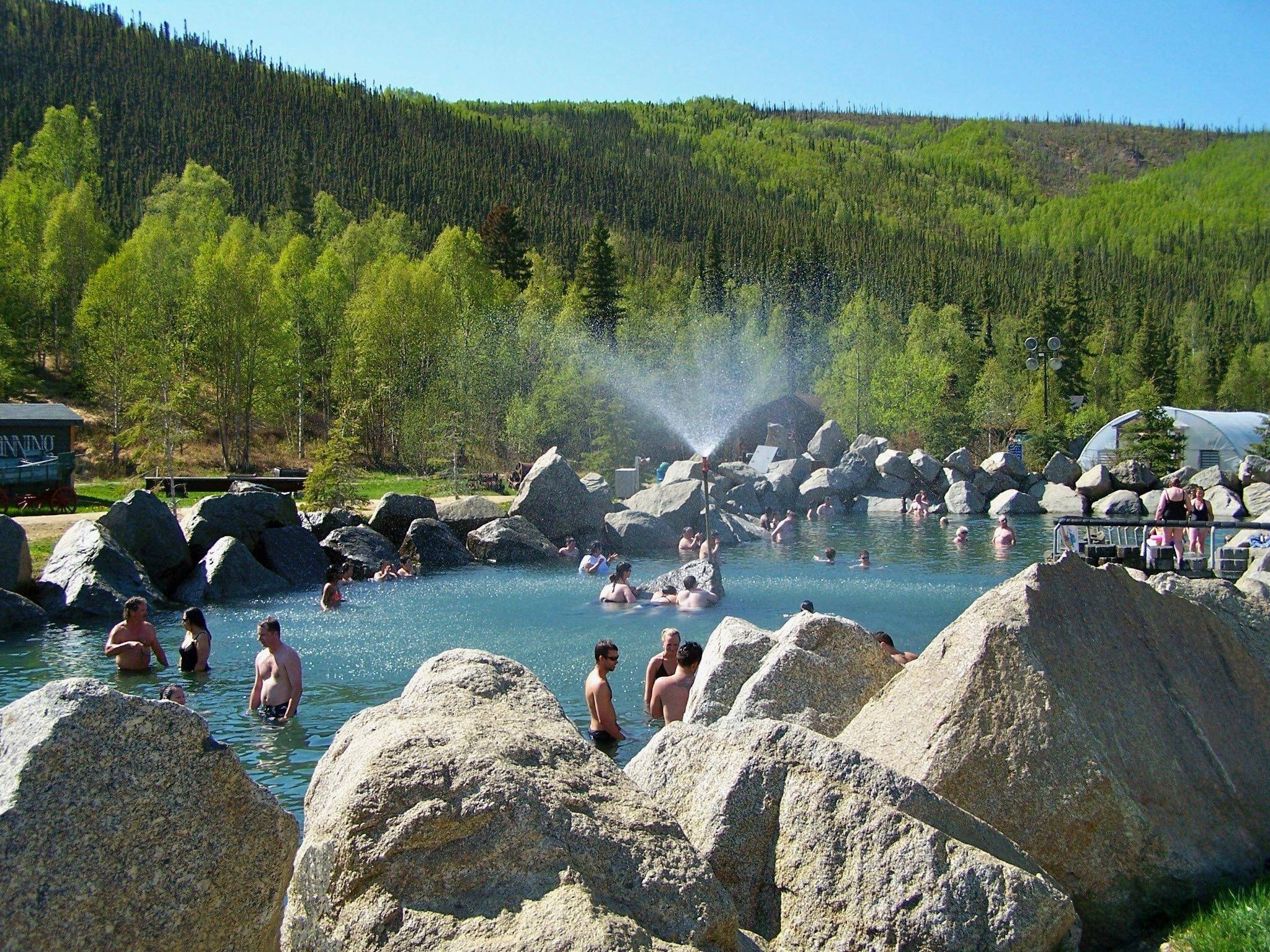 Photo thanks to Summer Hot Springs Lake, Chena Hot Springs Resort, Fairbanks