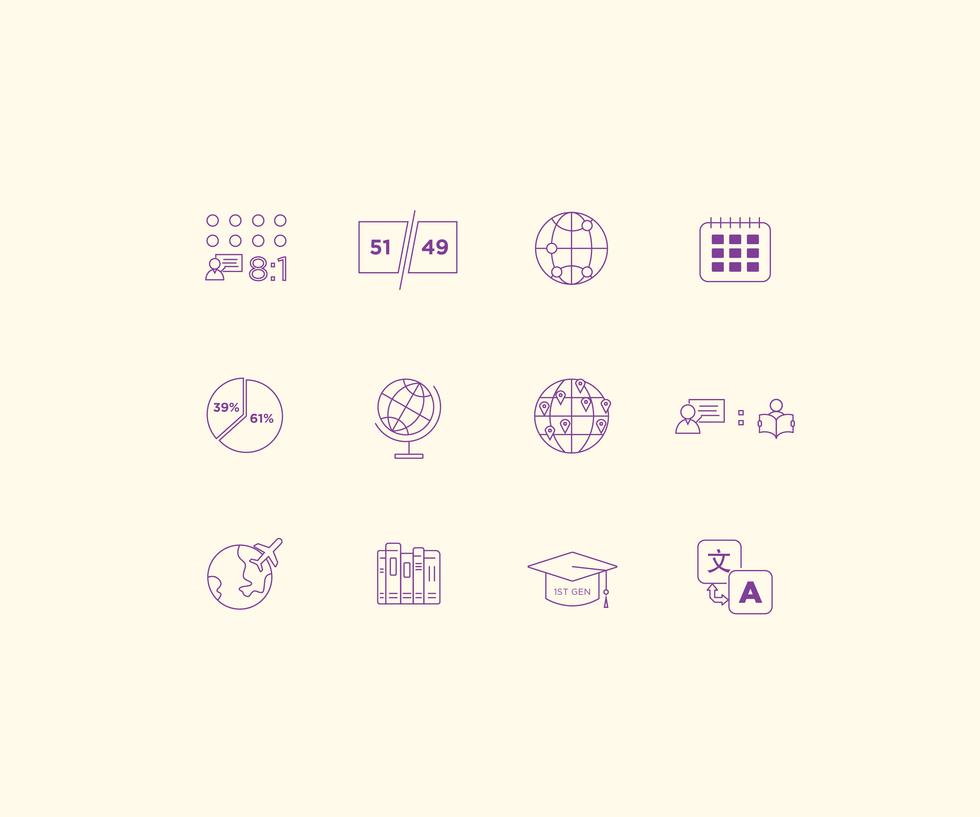 Icon Design for an NYU Alumni Magazine Issue