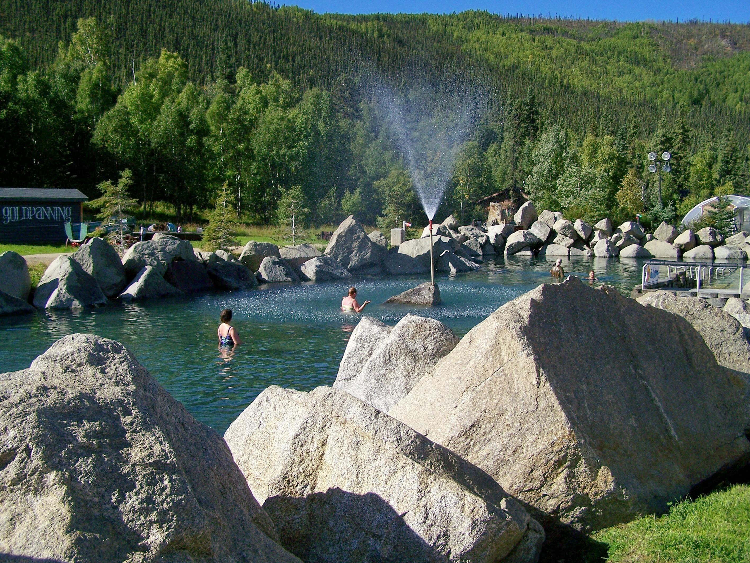 Summer hot springs lake (ages 18+)