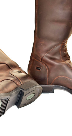 Nubuck Leather Long Riding Boot