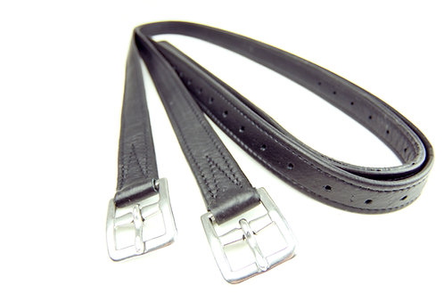 Classic Hide Covered Curved Buckle Leathers