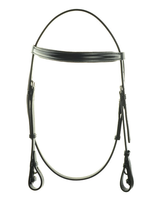 Ascot Headstall with Padded Raised Browband