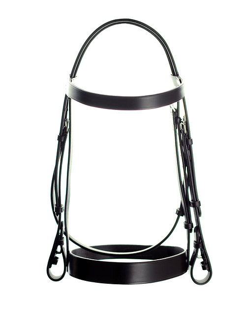 "Classic Plain Bridle with 2"" (50mm) Width Noseband"