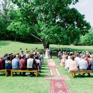 Bohemian Ceremony Wedding