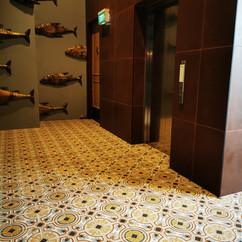Entry Floor Tiling at Riverside Market
