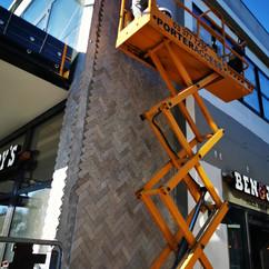 External Herringbone Wall Tiling at Ben & Jerry's Ice Cream