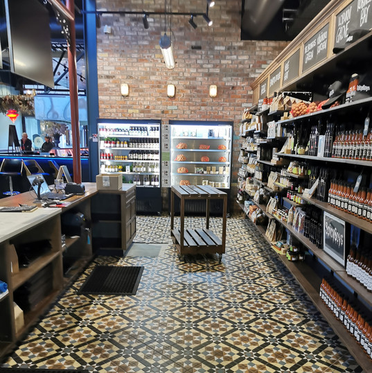 Floor Tiling at Riverside Market