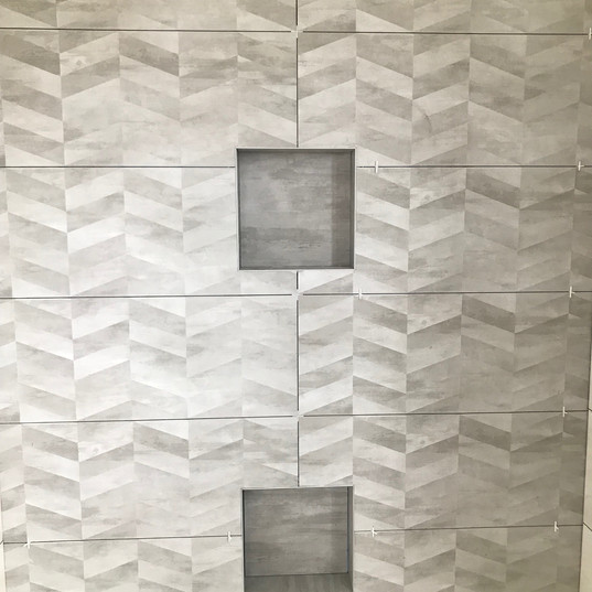 Shower Wall Tiling with 2 Soap Niche