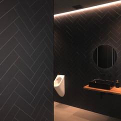 Herringbone Wall Bathroom Wall at Hotyz Cinema Tiling