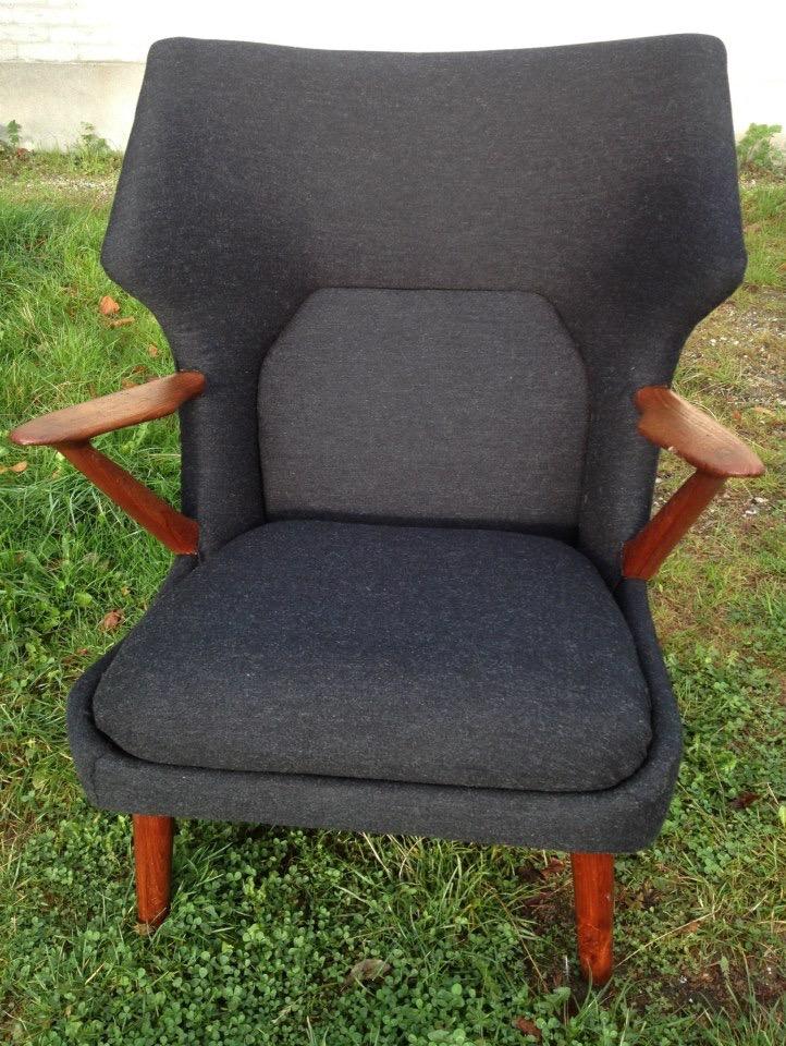 polstring af lænestol med uld
