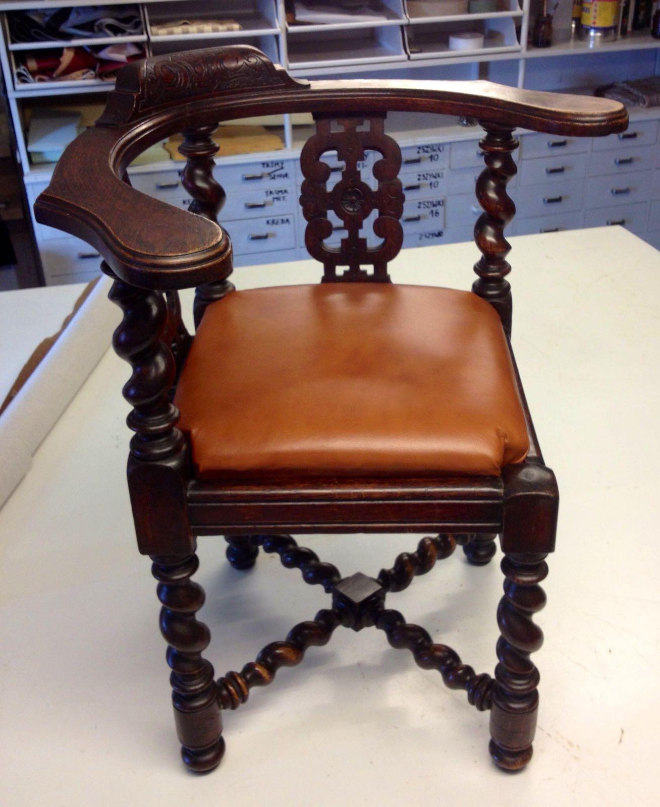 polstring læder stol