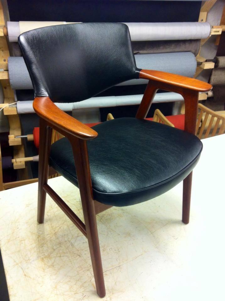 ompolstring af læder stol