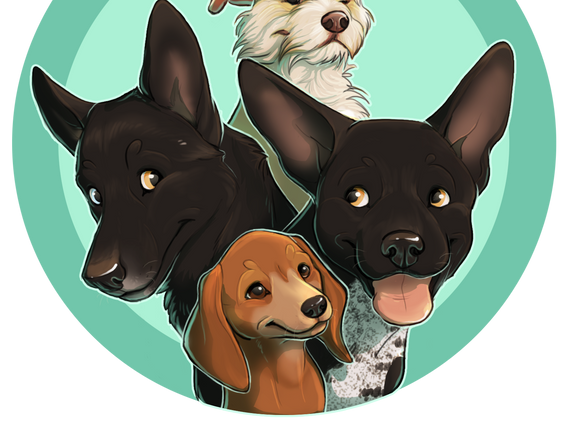 The Four Rescue Mutts