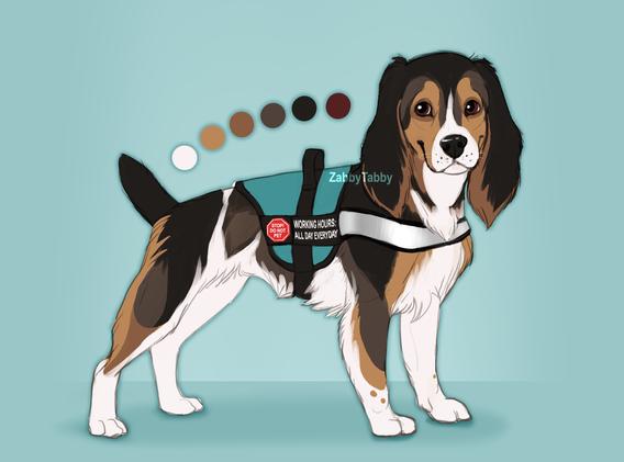 Cocker Service Dog Design
