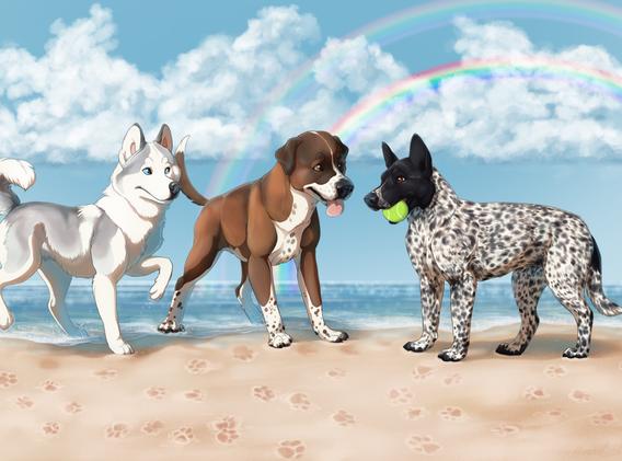 Riley, Bodhi, and Dakota