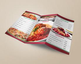 Pasta Amore- Brochure Menu