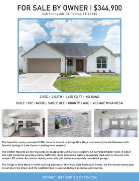 Real Estate Flyer- Blue