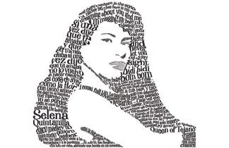 Selena- Typography Portrait