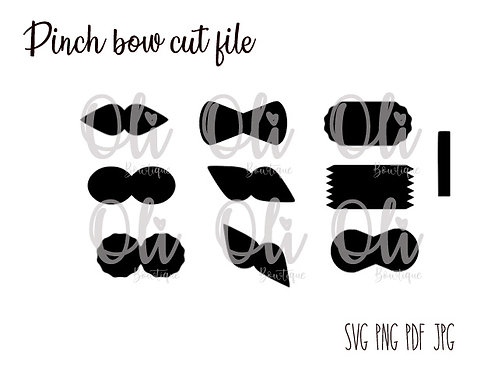 9 styles pinch bow SVG cut file
