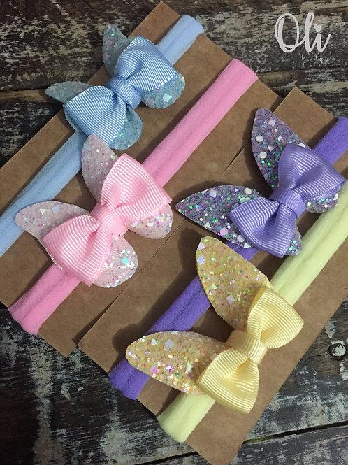 Glitter butterfly headband • Faixa de borboleta lonita com glitter