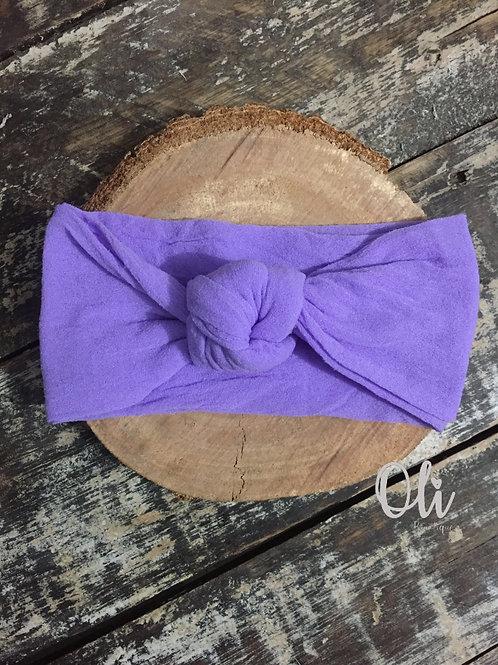 Turban knot headband •  Turbante de meia de seda com nó