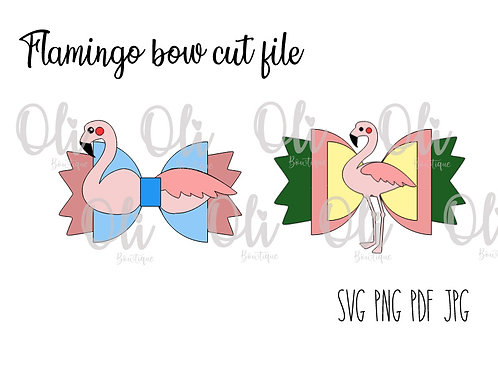 Flamingo bow SVG cut file