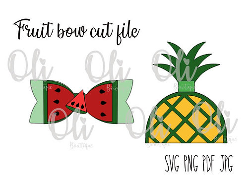 Fruit bow SVG cut file