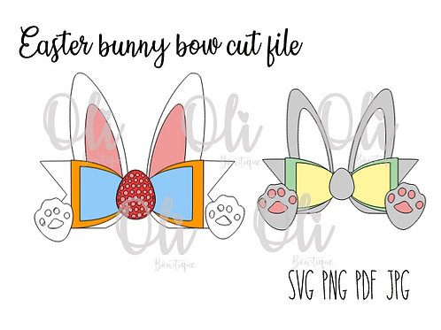 Easter bunny bow SVG cut file