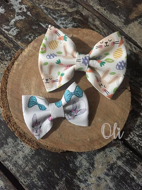 Easter leatherette Lia bow • Laço Lia courinho páscoa