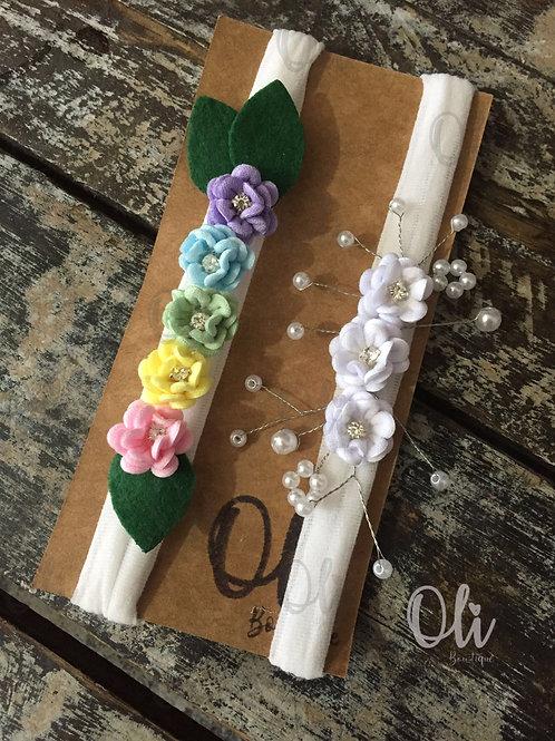 Flowers headband • Faixa com flores