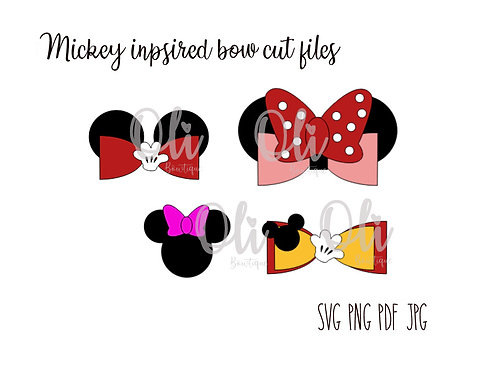 Mickey inspired bow SVG cut file