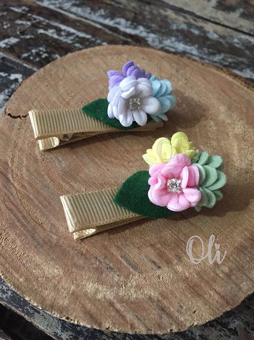 Flowers hair clip • Hair clip flores