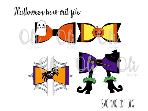 Halloween bow SVG cut file
