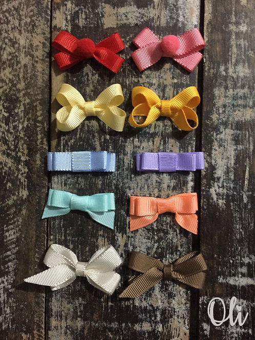 My first teeny tiny bow set • Meu primeiro kit de laço para colar