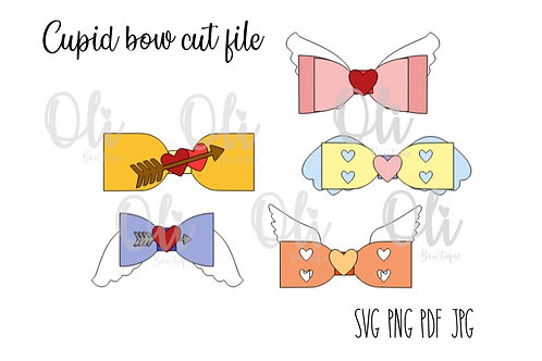 Cupid bow SVG cut file