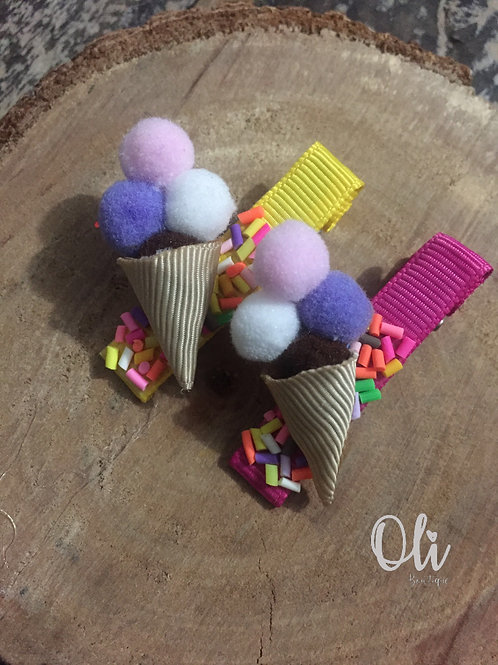 Ice cream hair clip • Hair clip sorvetinho